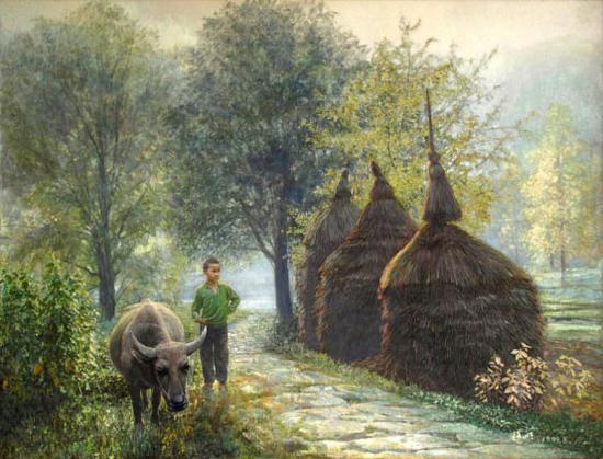 《小牧童》92×120cm 1999年