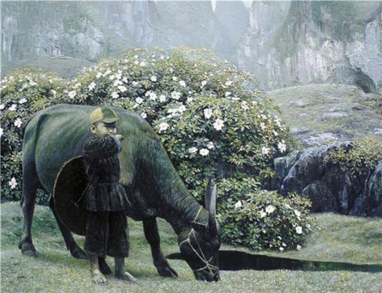 《春》92×120cm 1991年