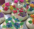 甘肃巧妇蒸制花馍 造型丰富