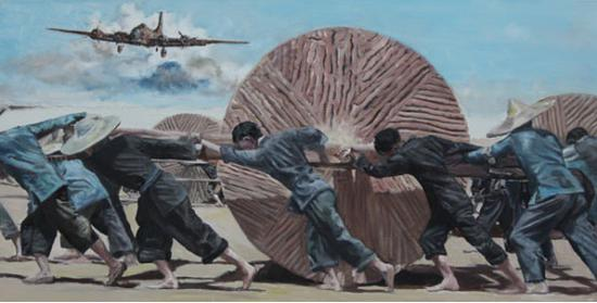 宫浩钦的航空绘画艺术