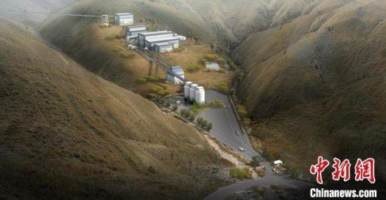 """图为榆中县日昌升""""年产500万吨新型环保优质骨料""""项目落成示意图。"""