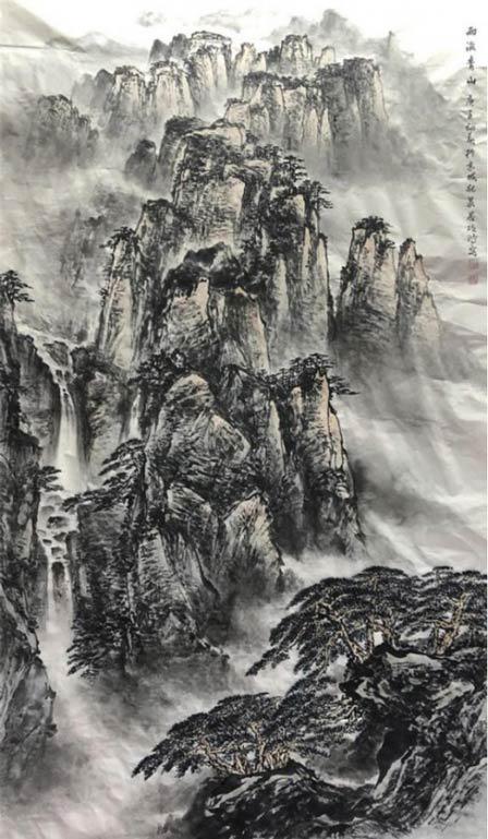 《雨后青山》289cm×182cm 2020年