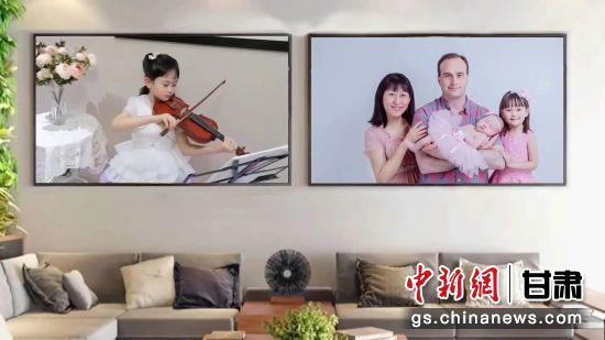 小提琴表演《友谊地久天长》。