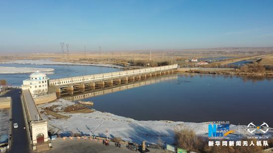 2021年春季开河后的内蒙古自治区巴彦淖尔市磴口县三盛公水利枢纽工程库区。新华网发 (王治贵 摄)