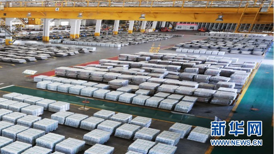 金川集团股份有限公司镍冶炼厂成品库。(金川集团供图)