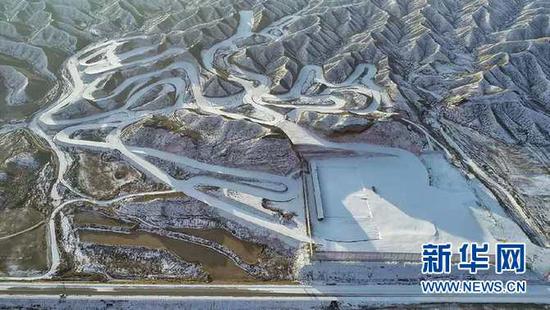 甘肃白银国家雪上项目训练基地航拍照片。(照片由受访者提供)