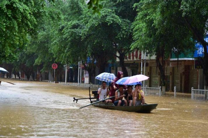 广西继续发布暴雨蓝色预警 升级发布洪水黄色预警
