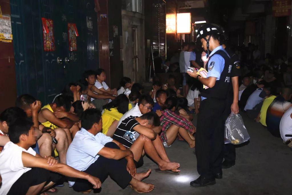 警方抓捕现场 图源南宁警方