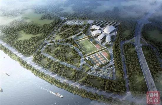城中区体育园鸟瞰图