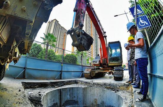 南宁市实施内河排口控源截污项目一期工程