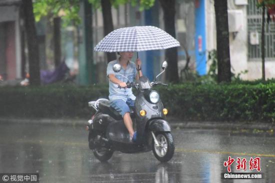 中央气象台继续发布暴雨蓝色预警、高温黄色预警