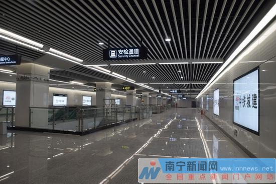 南宁地铁3号线站点进入装修阶段 设计融入东盟特色