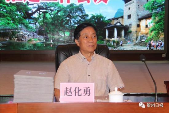 ▲中央电视台原台长、中国视协名誉主席赵化勇