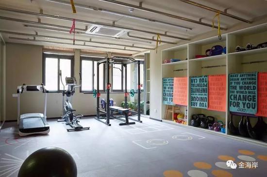 ▲ 免费使用的健身教室