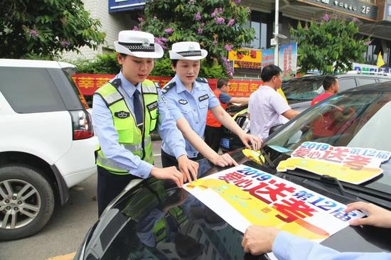 爱心送考活动启动 玉林平南组织数百辆车爱心送考