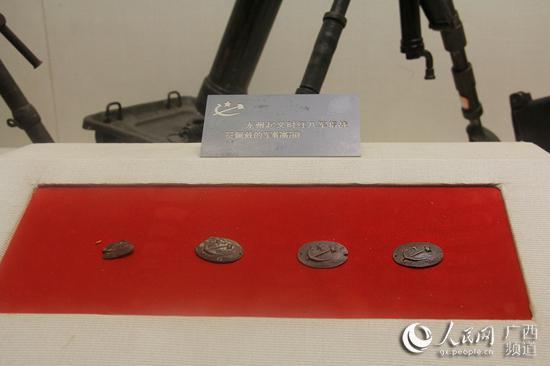 龙州起义纪念馆内珍藏的红军帽徽