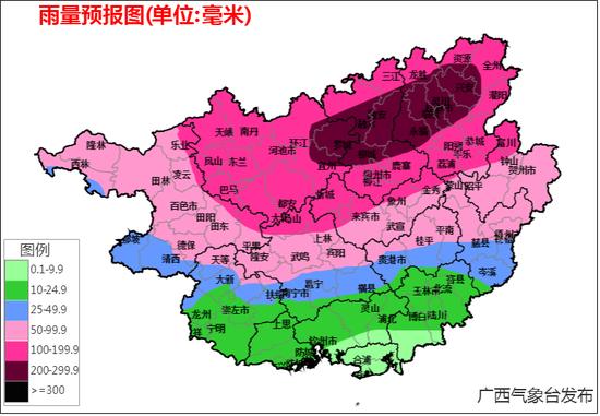 2019年7月12-14日雨量预报图