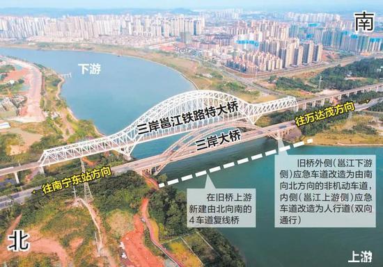 重磅!南宁三岸大桥准备扩建为8车道 预留非机动车道