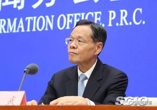 广西壮族自治区党委副书记、自治区主席陈武(张馨 摄)来源:国新网