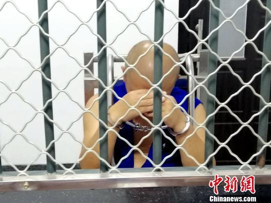 犯罪嫌疑人正在接受警方调查。沈阳市公安局皇姑分局供图