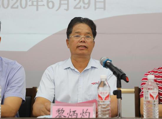 南宁市腾安建筑机械租赁有限责任公司董事长黎炳灼讲话