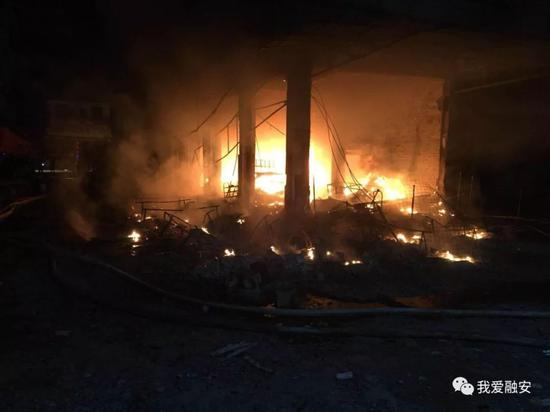 2月5日,在大良镇拍摄的火灾现场。(闭德元 摄)