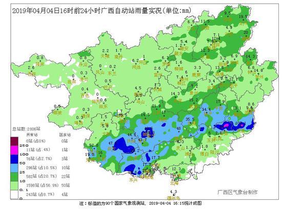 降雨进入尾声!南宁等市阴天有小雨 未来3天气温回升