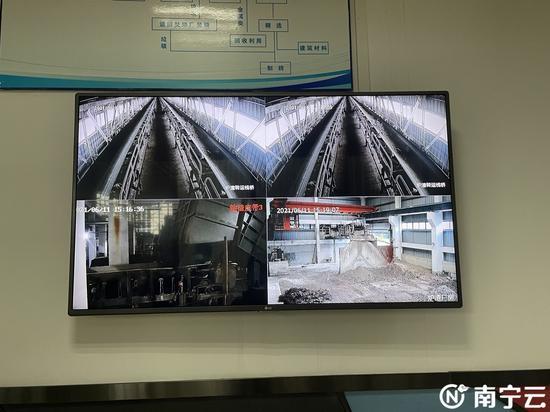 炉渣综合利用系统展示。
