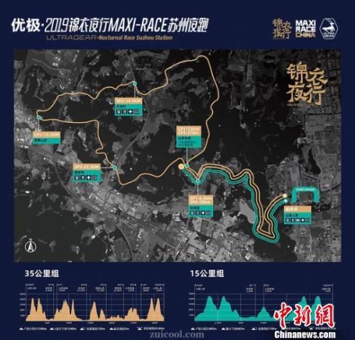 夜跑活动的两条路线基本位于山间。供图