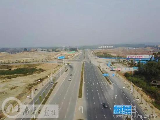 南宁:从东站到三塘只要10分钟 长堽路延长线通车