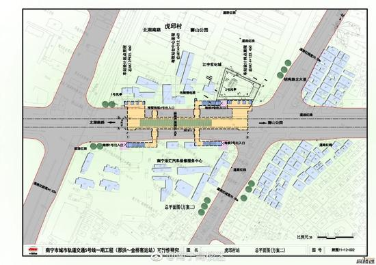 南宁地铁4号线站点图