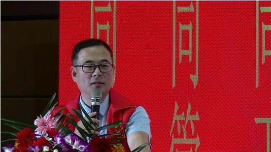 对余杭分部的成立表示祝贺,并期望该爱心团队能在以陆云鹤会长,董兰瑛