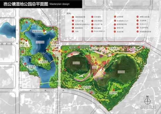 柳江岜公塘湿地公园总平面图