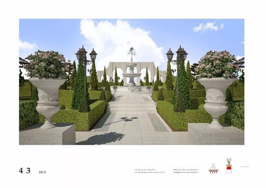 意大利式台地园平面图