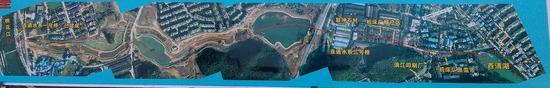 两江四湖二期工程连通水系水道示意图