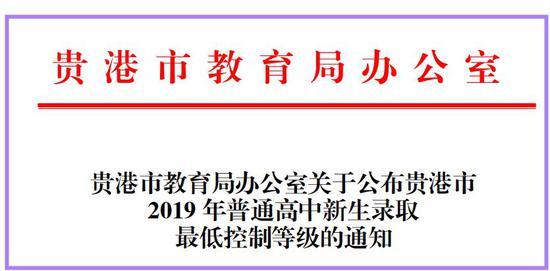 贵港市2019年普通高中新生录取最