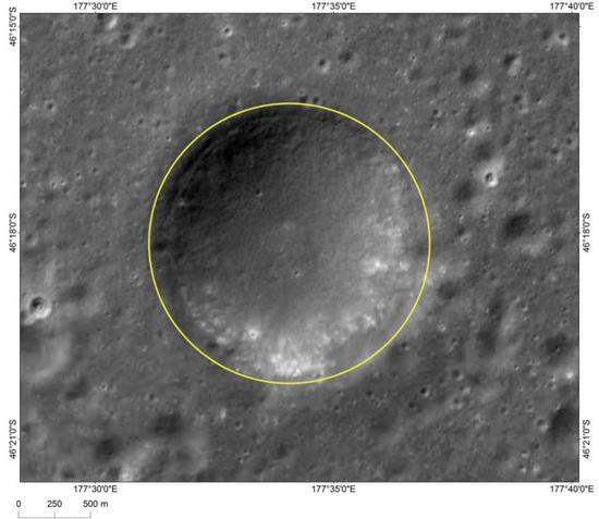 图3 河鼓坑影像图