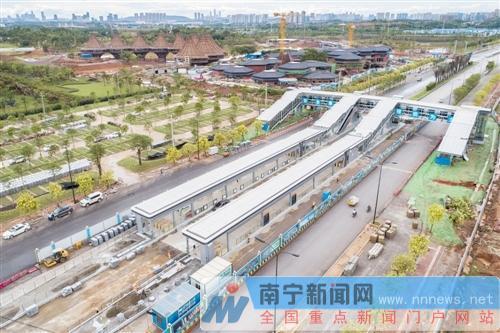 BRT2号线即将建成,服务园博会。记者段柳健摄