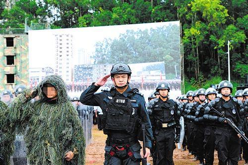曾浩参加广西公安实战大练兵