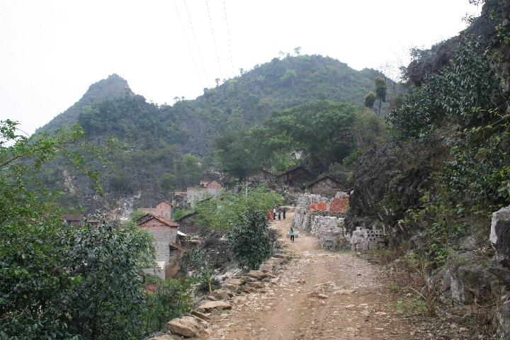 搬迁前的龙邦村。图片由广西田东县思林镇提供