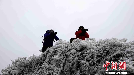 摄影爱好者在环江县龙岩乡朝阁万亩草甸拍摄。 高东风 摄