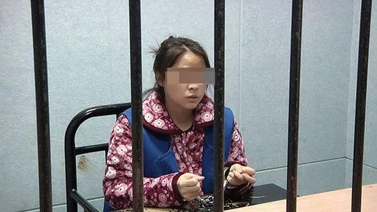 被抓获女子李某 青浦警方 供图