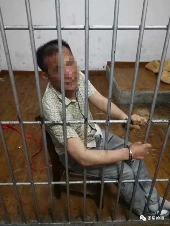持枪歹徒被抓捕(图片来源:娄星检察)