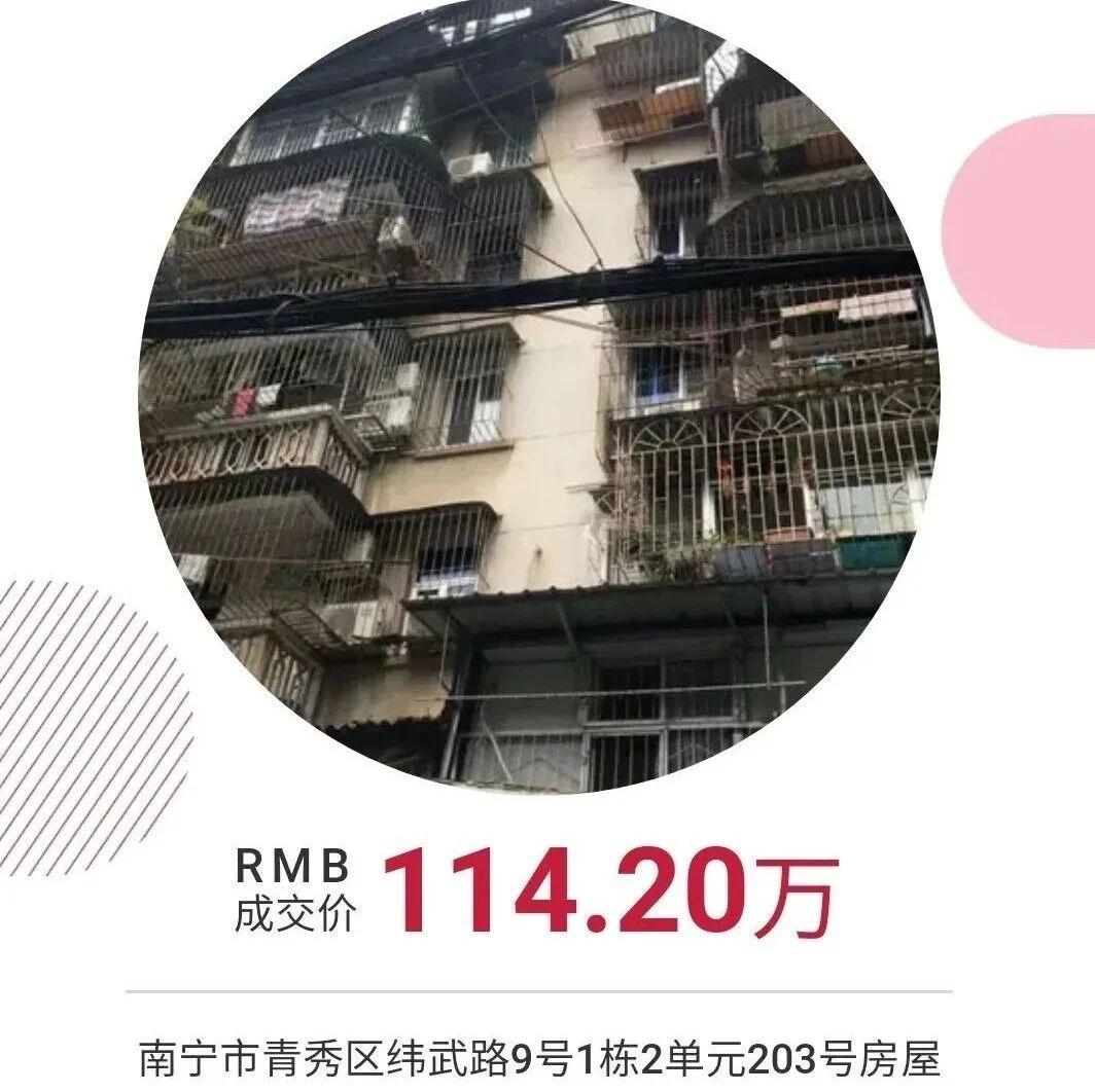 南宁一单位老旧学区房拍出高价 原房主因罪获刑20年