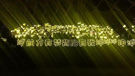 蔡徐坤粉丝应援灯牌;图片来源:蔡徐坤粉丝团官微