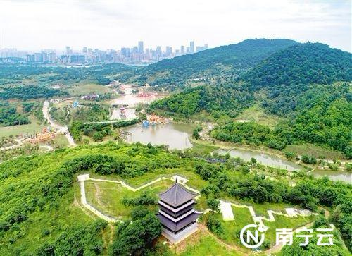青秀山新东区景观——樱语阁。
