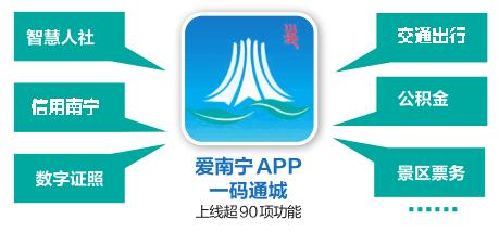 爱南宁APP上线超90项功能 一码通城带来智慧城新体验