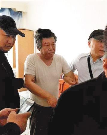 程鹏被抓获现场。图/中央纪委国家监委网站