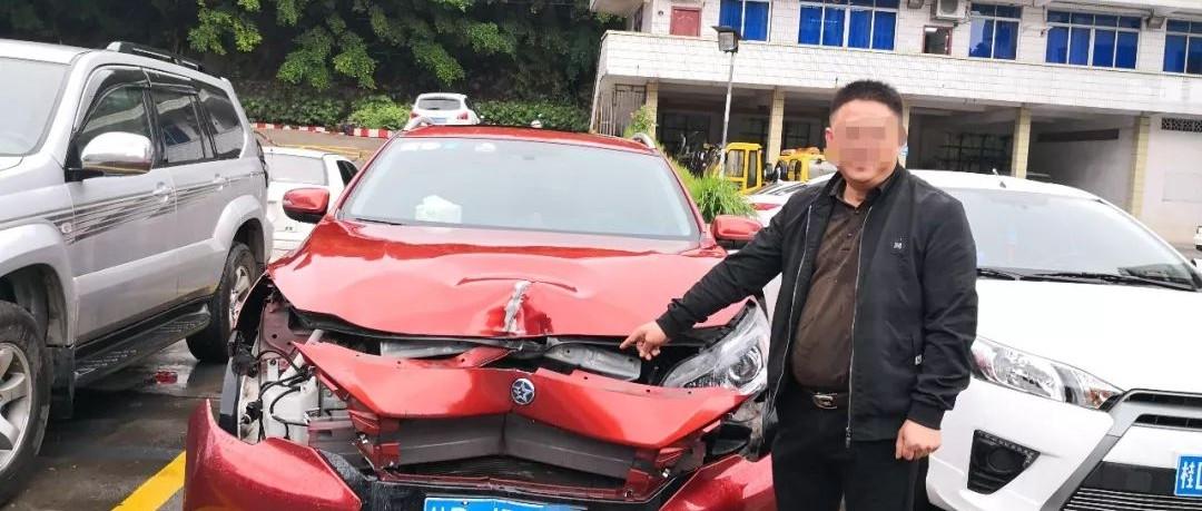 梧州男子撞坏红绿灯后悄悄离开 也是肇事逃逸