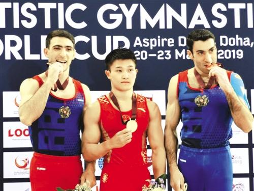 广西体操吊环运动员兰星宇征战多哈 力压群雄得金牌